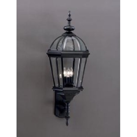 "Kichler Kichler 9252Bk Black Trenton Collection 3 Light 33"" Outdoor Wall Light"