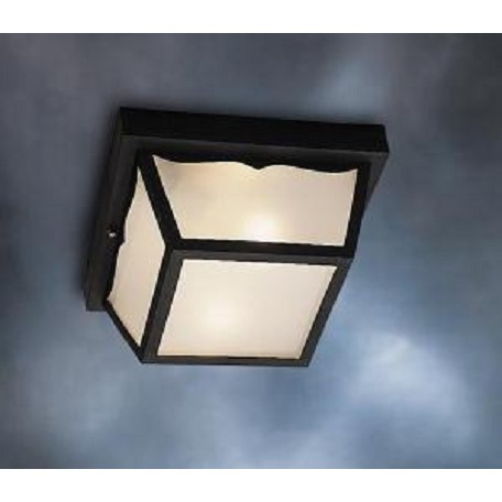 Kichler Black Wrought Iron 1 Light Outdoor Ceiling Fixture