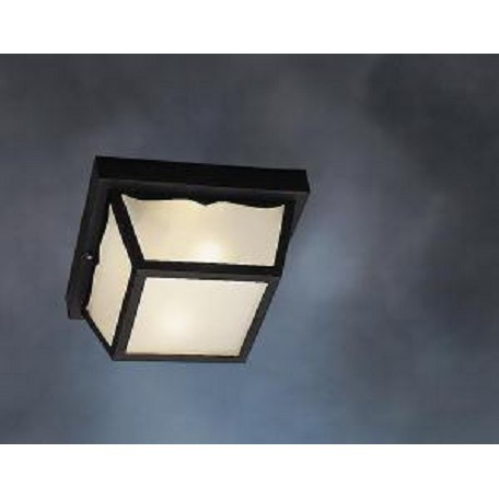 Kichler Black Wrought Iron 2 Light Outdoor Ceiling Fixture
