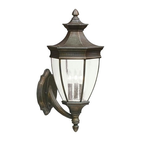 Kichler Tannery Bronze Warrington Collection 3 Light 24In. Outdoor Wall Light