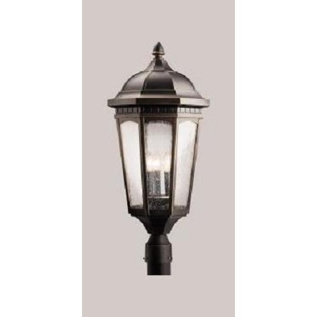 Kichler Three Light Rubbed Bronze Post Light