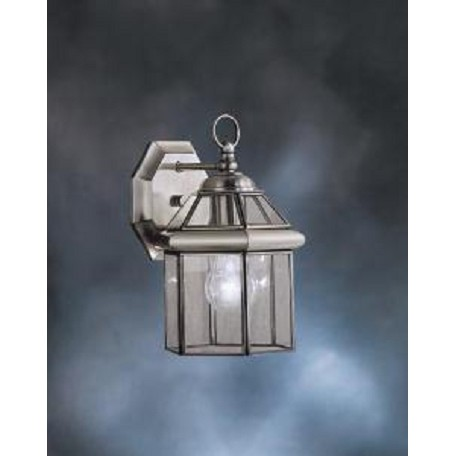 "Kichler Antique Pewter Embassy Row Collection 1 Light 11"" Outdoor Wall Light"