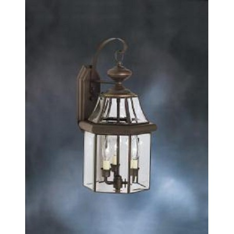 Kichler Olde Bronze Embassy Row Collection 3 Light 21In. Outdoor Wall Light