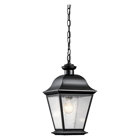 Kichler Black Mount Vernon Single Light Outdoor Pendant