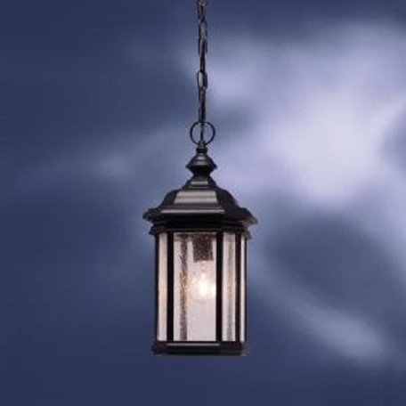Kichler Black (Painted) 1 Light Outdoor Pendant From The Kirkwood Collection