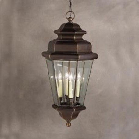 Kichler Olde Bronze 4 Light Outdoor Pendant From The Savannah Estates Collection
