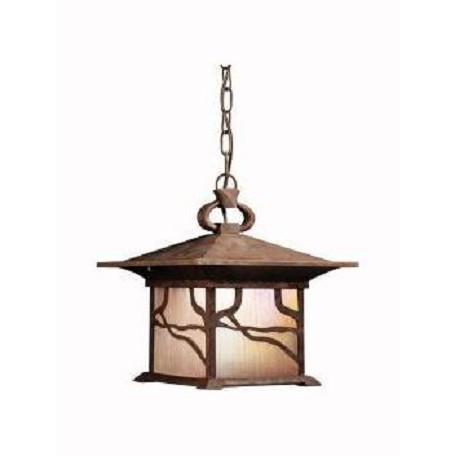Kichler Distressed Copper 1 Light Outdoor Pendant From The Morris Collection