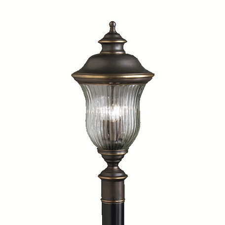 Kichler Olde Bronze 3 Light Post Light From The Sausalito Collection
