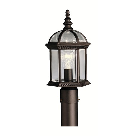 Kichler Kichler 9935Bk Black 1 Light Post Light From The Barrie Collection