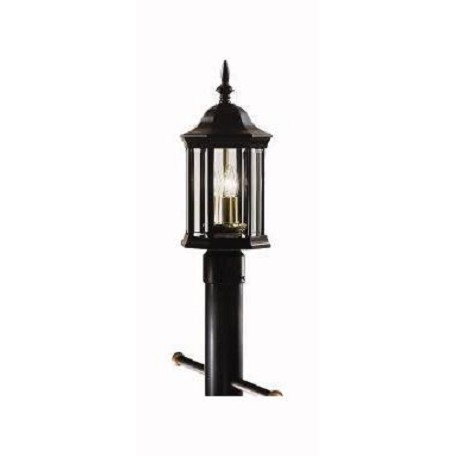 Kichler Kichler 9977Bk Black 3 Light Outdoor Post Light From The Chesapeake Collection