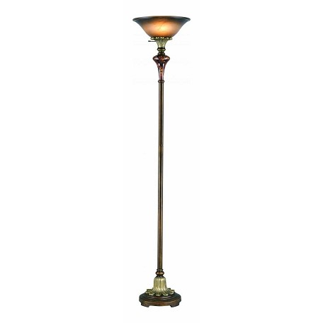 Lite Source Inc. Antique Gold Torchiere Lamp From The Savoir Faire Collection