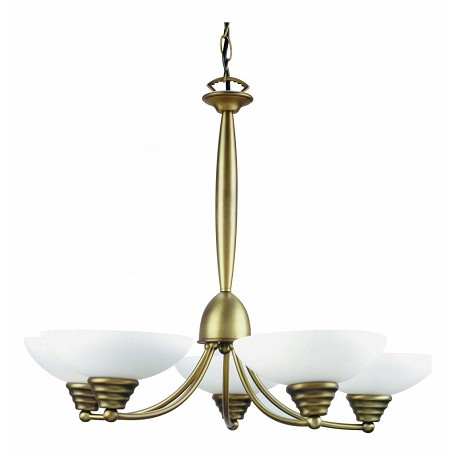 Lite Source Inc. Frost Glass 5 Light Up Lighting Chandelier From The Maestro Collection