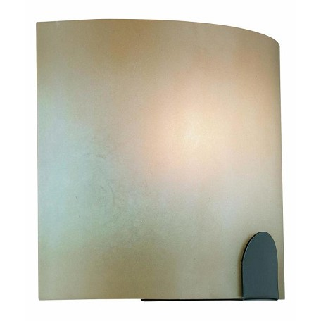 Lite Source Inc. 1 Light Wall Sconce Light Amber Glass Shade
