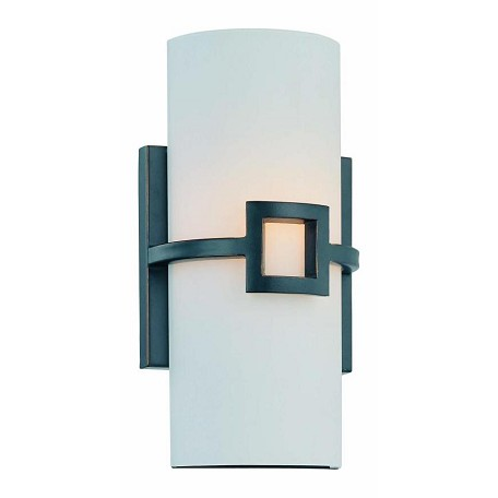 Lite Source Inc. Wall Sconce Ant. Bronze/Frost Glass Shade Type B 60W