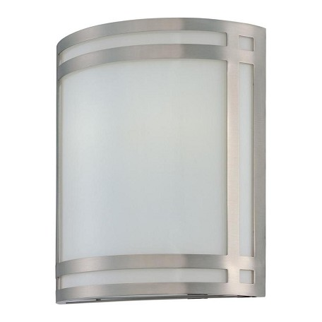 Lite Source Inc. Steel Two Light Ambient Lighting Wall Sconce With Frost Glass Shade