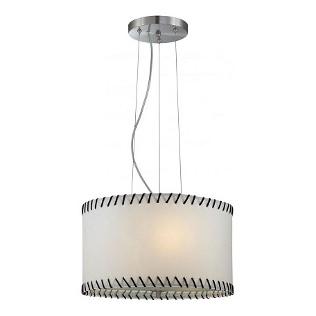 Lite Source Inc. Steel Lavina 3 Light Drum Pendant