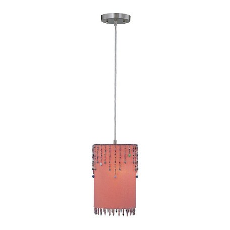 Lite Source Inc. Single Light Down Lighting Pendant From The Shaggie Collection