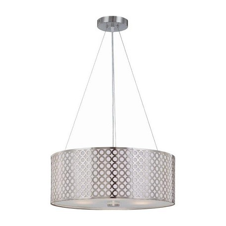 Lite Source Inc. Silver Contemporary Modern Three Light Down Lighting Pendant