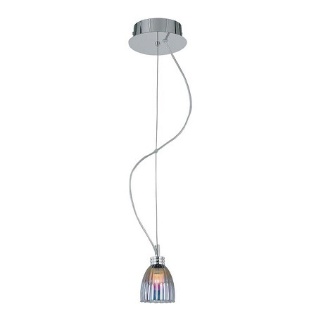 Lite Source Inc. Pendant Lamp Stainless Steel/Colored Plated Gls Jc/G4 20W