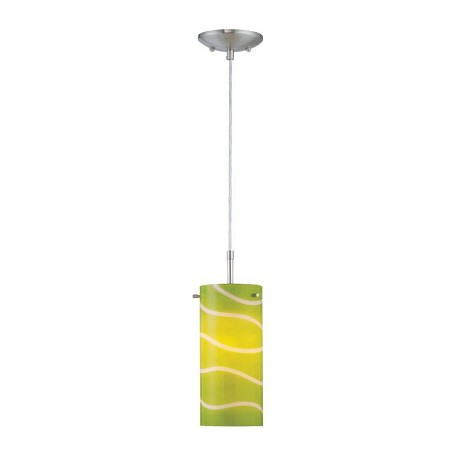 Lite Source Inc. Steel And Green Single Light Down Lighting Mini Pendant