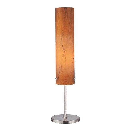 Lite Source Inc. Amber 1 Light Table Lamp With Amber Glass Shade