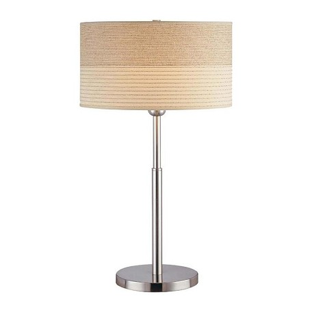 Lite Source Inc. Steel 1 Light Table Lamp With 2 Tone Off White Shade