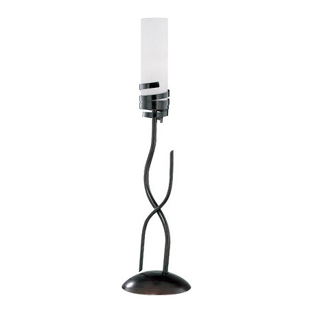 Lite Source Inc. Bronze 1 Light Table Lamp With Frost Glass Shade