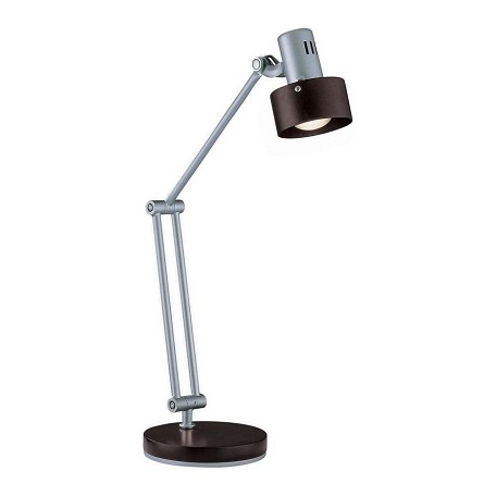 Lite Source Inc. Dark Walnut 1 Light Desk Lamp With Dark Walnut Shade
