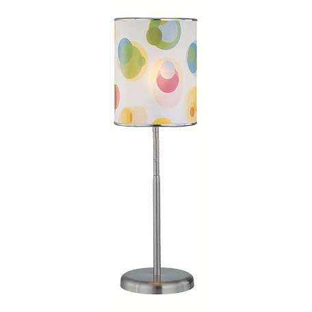 Lite Source Inc. Steel 1 Light Table Lamp With Printed Pvc Shade