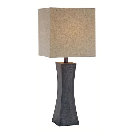 Lite Source Inc. Walnut 1 Light Table Lamp With Tan Fabric Shade