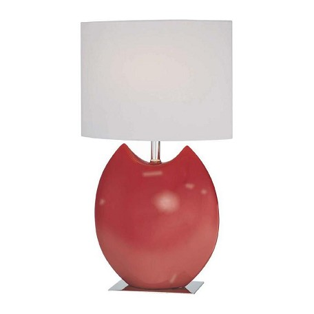 Lite Source Inc. Ceramic Table Lamp With Off White Fabric Shade