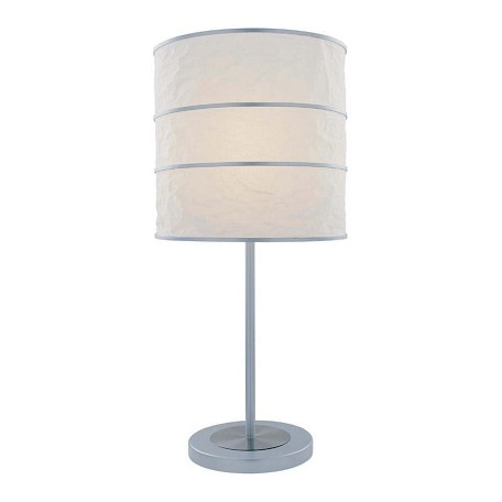 Lite Source Inc. Steel 1 Light Table Lamp With White Paper Shade