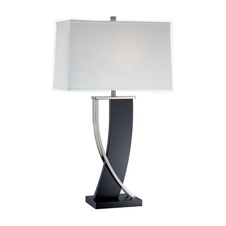 Lite Source Inc. Single Light Up Down Lighting Table Lamp With Off-White Fabric Shade