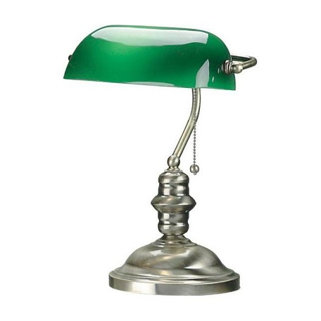 Lite Source Inc. Antique Brass Desk Lamp From The Banker I Collection