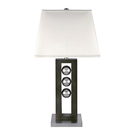 Lite Source Inc. Steel Dark Walnut Table Lamp From The Pelota Collection