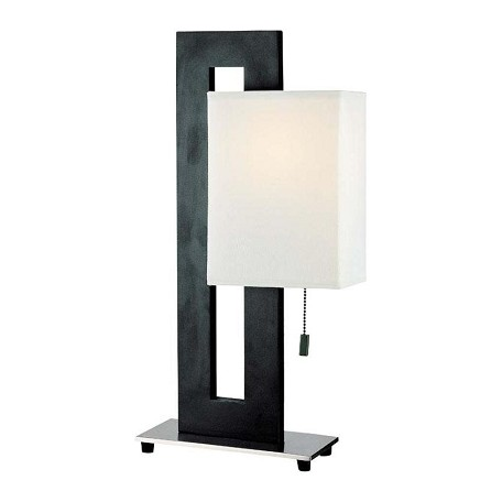 Lite Source Inc. Polished Steel Asian Themed Accent Table Lamp