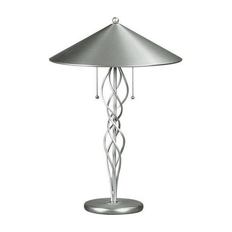 Lite Source Inc. Steel 2 Light Metal Table Lamp Satin Steel From The Torsion Collection