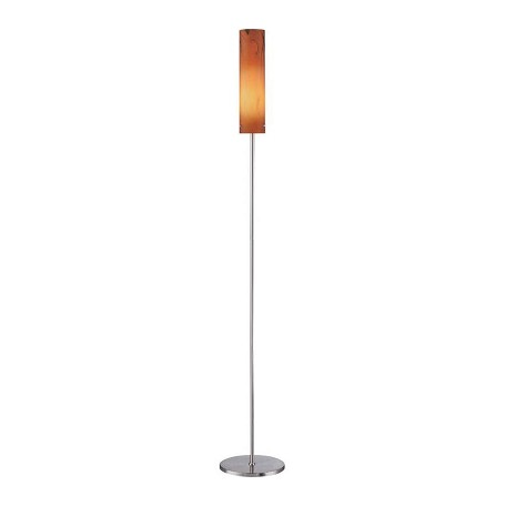 Lite Source Inc. Steel 1 Light Floor Lamp With Dark Amber Glass Shade