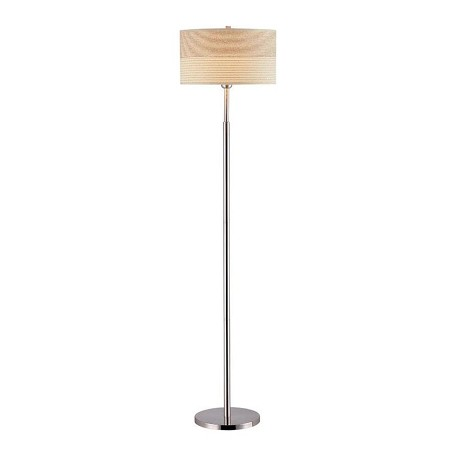 Lite Source Inc. Steel 1 Light Floor Lamp With 2 Tone Off White Shade