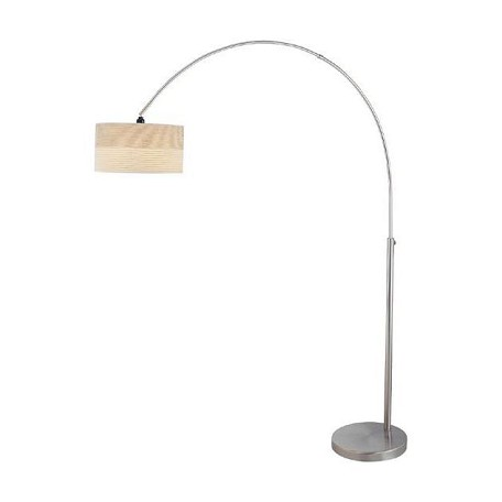 Lite Source Inc. Steel 1 Light Arch Lamp With 2 Tone Off White Shade