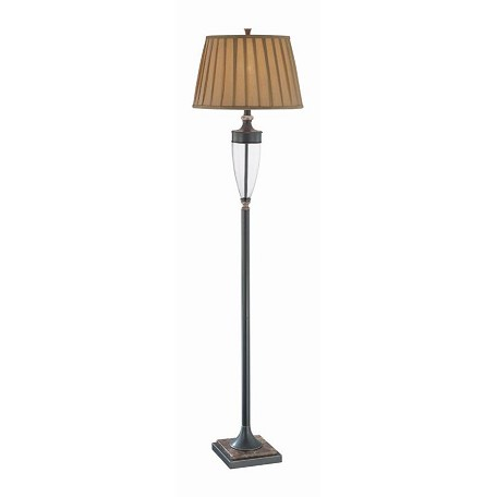 Lite Source Inc. Bronze 1 Light Floor Lamp With Pleated Shade