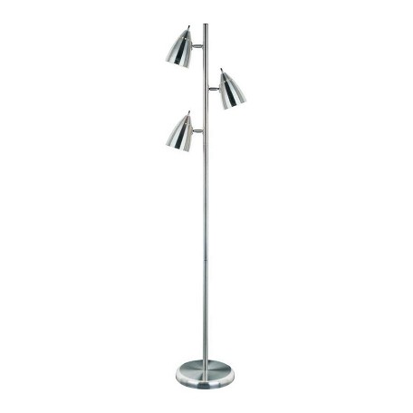 Lite Source Inc. Steel 3 Light Floor Tree Lamp With Shade From The Bullets Collection