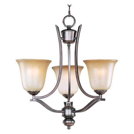Maxim Three Light Oil Rubbed Bronze Wilshire Glass Up Mini Chandelier