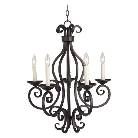 Maxim Five Light Oil Rubbed Bronze Up Chandelier