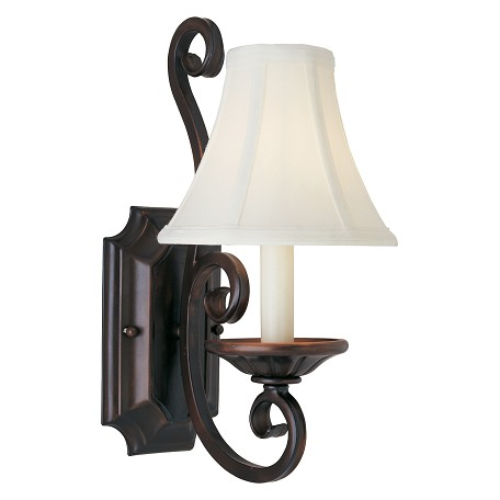 Maxim One Light Oil Rubbed Bronze Wall Light