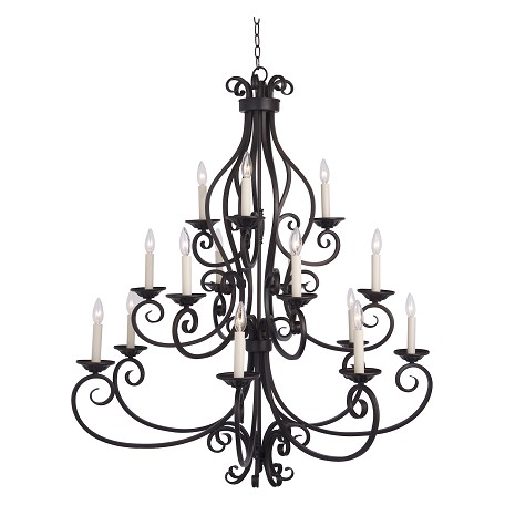 Maxim Fifteen Light Oil Rubbed Bronze Up Chandelier