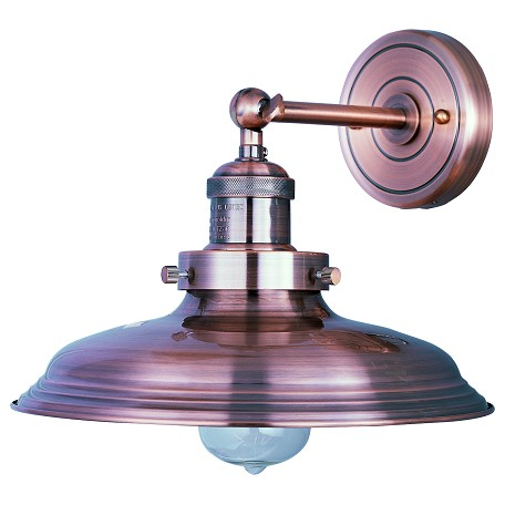 Maxim One Light Antique Copper Wall Light