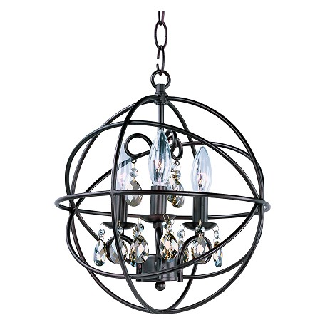 Maxim Three Light Oil Rubbed Bronze Up Chandelier