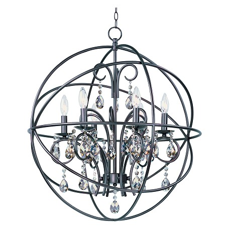 Maxim Six Light Oil Rubbed Bronze Up Chandelier