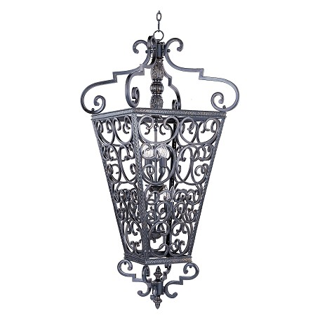 Maxim Eight Light Kentucky Bronze Open Frame Foyer Hall Fixture